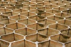 Stone blocks forming Honey Comb pattern Stock Image