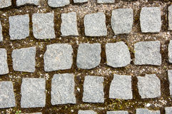 Stone blocks with grass. Seamless tileable texture Stock Image
