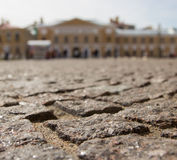 The stone blocks laid in the Peter and Paul Fortress in St. Petersburg Royalty Free Stock Images