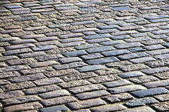 Stone blocks pavement surface Stock Photo