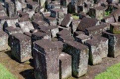 Stone blocks ruins in ratu boko temple complex Stock Image