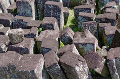 Stone blocks ruins in ratu boko temple complex Stock Photos