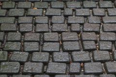 Stone Blocks Seamless Tileable Texture in depth of field. Royalty Free Stock Photos