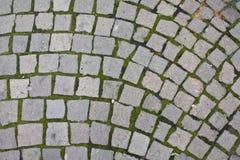 Stone blocks texture. Stone block texture isolated with grass Stock Photos