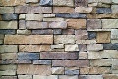 Stone Blocks Wall Made from Irregular Sized Stone Blocks Stock Photos