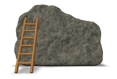 Stone board and ladder Stock Photography