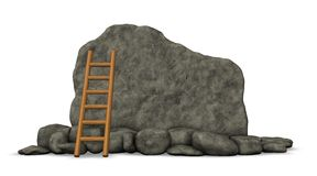 Stone board and ladder Royalty Free Stock Images
