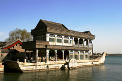 The stone boat. This picture is took in the summer palace Royalty Free Stock Image