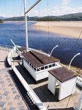 Stone Boat and Estuary, Portmeirion Royalty Free Stock Image
