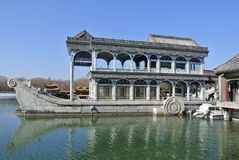The stone boat in the Summer Palace Stock Photos