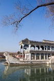Stone Boat in The Summer Palace Stock Photo