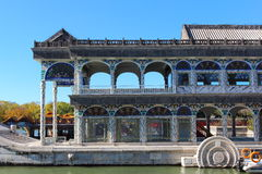 The stone boat in the Summer Palace Royalty Free Stock Image