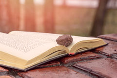 Stone on a Book Stock Photos