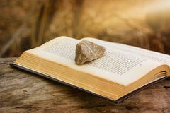 Stone on a Book stock photography