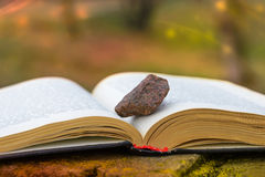 Stone on a Book royalty free stock photography