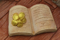 Stone book Stock Photography