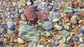 Stone bottom transparent water rock natural stock video footage