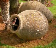Stone bowls Royalty Free Stock Images
