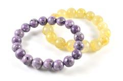 Stone bracelets Stock Photo
