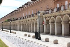 Stone and brick arches, Aranjuez, Spain royalty free stock photography