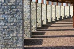 Stone brick column. The stone brick column of summerhouse Royalty Free Stock Image
