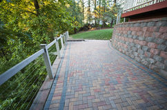 Stone Brick Patio, Mason Pavers Royalty Free Stock Photography