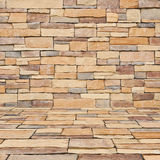 Stone brick room background Royalty Free Stock Photos