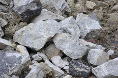 Stone & brick rubble pile Stock Image