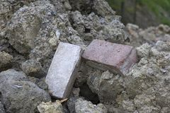 Stone & brick rubble pile Royalty Free Stock Photo