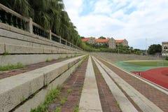 Stone brick stands of the earliest stadium of xiamen university Royalty Free Stock Image