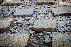 Stone brick walkway Stock Image