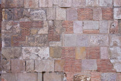 Stone and brick wall. Background Royalty Free Stock Photo
