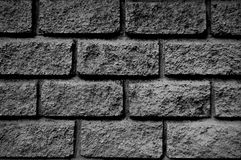 Stone brick wall. In gray scale Royalty Free Stock Photography