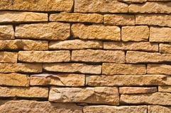 Stone brick wall. At the park Stock Photo
