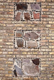 Stone and brick wall Stock Photography