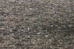 Stone brick wall. Wall of ancient stone bricks Royalty Free Stock Images