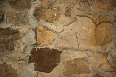 Stone brick wall background and texture, Dirth cement brick wall pattern Stock Image