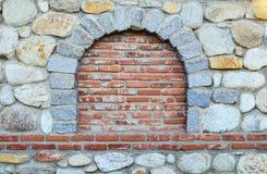 Stone and brick wall Royalty Free Stock Image