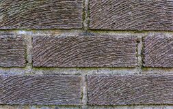 Stone brick wall for fence