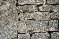 Stone Brick Wall. Grey Stone Brick Wall Texture Royalty Free Stock Photos