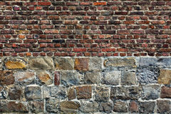 Stone brick wall in horizontal position Stock Photography