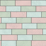 Stone brick wall illustration background, texture pattern Stock Photos