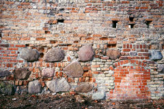 Stone and brick wall Royalty Free Stock Images