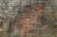 Stone and brick wall Royalty Free Stock Image