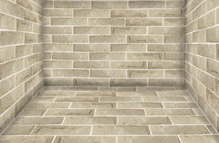 Stone brick wall room Stock Photo