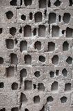 Stone brick wall texture. Details of old stone brick wall texture  close up photo Stock Images