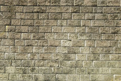 Stone brick wall with  weathered cement  background Royalty Free Stock Photo