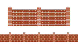 Stone bricks fence  on white background Stock Photos