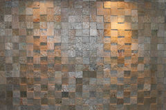 Stone bricks with  spotlights Stock Images