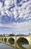 Stone bride. Stone bridge over the river Ebro, in La Rioja Stock Photography